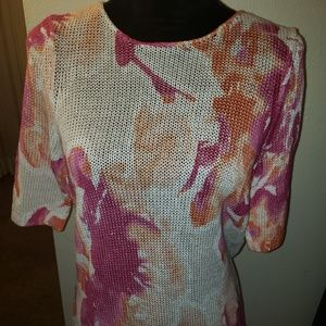 Chico's knitted short sleeve sweater size 1